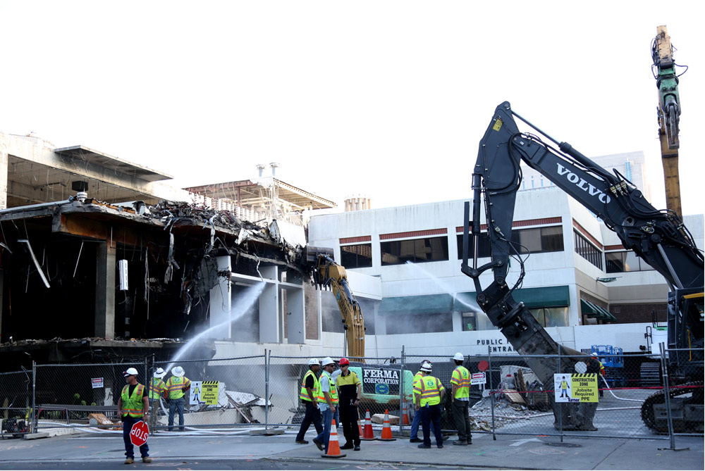 Construction began on the new Kings Arena in August, with the demolition of the structure at the corner of 5th and L. - Photo courtesy of SacramentoESC.com