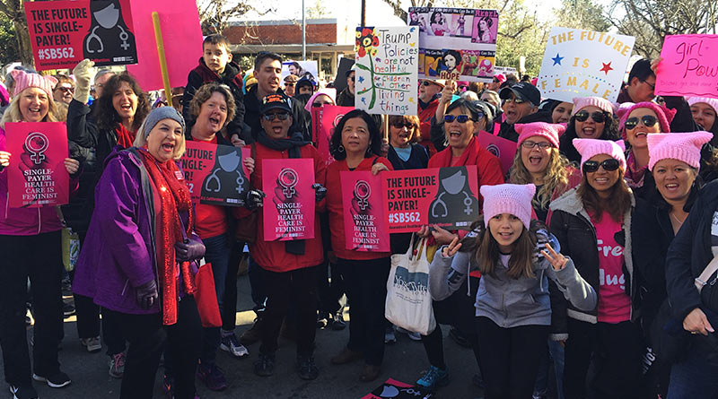 Nurses fight for health care at Women's March
