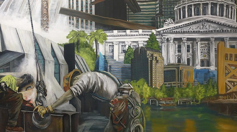 Ironworkers mural shows past and future of Sacramento trades