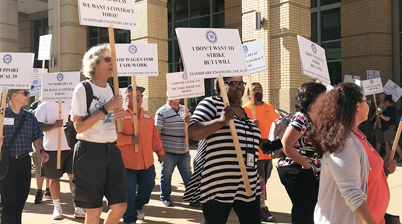 City workers rally for fair wages and negotiations