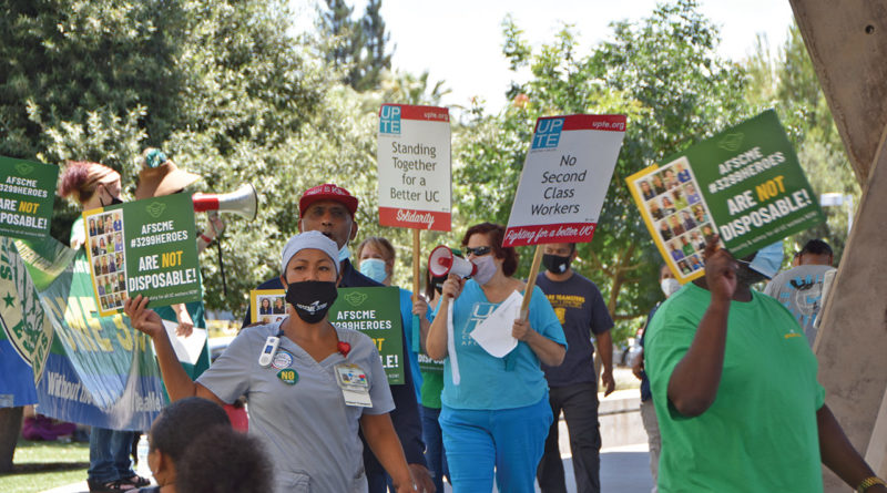 UC employees fight layoffs of vulnerable workers