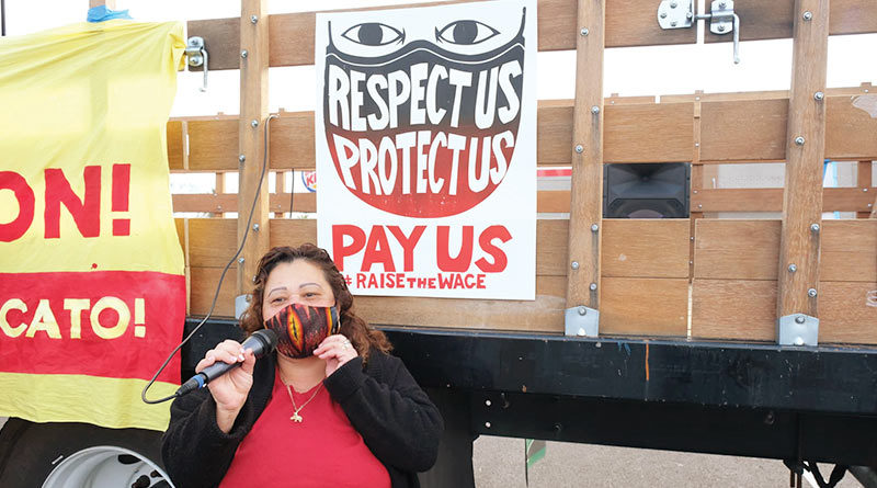 Fast food workers fight for $15 an hour and fair working conditions